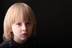 Little boy portrait in moonlight Royalty Free Stock Photos