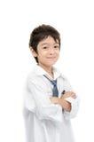 Little boy portrait white shirt on white background Royalty Free Stock Photos