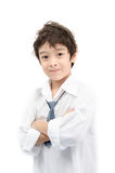 Little boy portrait white shirt on white background Stock Photography