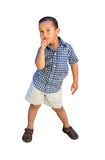 Little Boy Posing. Such a cute little boy striking a pose w/ clipping path Royalty Free Stock Photos