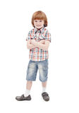Little boy posing for the camera Stock Images