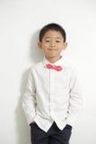 Little boy posing and enjoy Royalty Free Stock Image