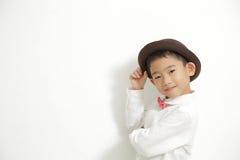 Little boy posing and enjoy Stock Photos