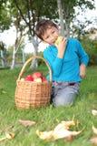 Little boy posing outdoors Stock Photos