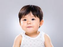 Little boy pout lip Stock Images