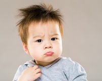 Little boy pouting Royalty Free Stock Photos
