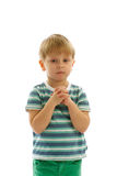 Little Boy Prayed Royalty Free Stock Images