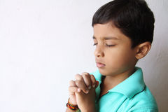 Little Boy Praying Royalty Free Stock Photos