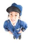 Little boy pretend as a pilot Royalty Free Stock Image