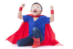 Little boy pretending to be a superhero Royalty Free Stock Photo