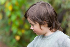 Little boy in a profile stock images