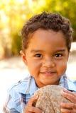 Little Boy przy parkiem Zdjęcia Royalty Free