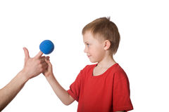 Little boy and puppeteer Stock Photography
