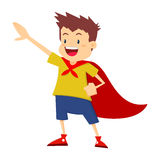 Little Boy que finge ser super-herói Imagem de Stock Royalty Free