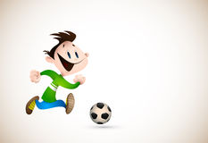 Little Boy que joga o futebol Fotografia de Stock Royalty Free