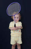 Little boy with a racket Royalty Free Stock Image