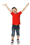 Little boy raised his hands Royalty Free Stock Photo