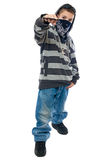 Little boy rapper. Isolated on white background Royalty Free Stock Photos