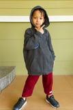 Little boy rapper Stock Photography