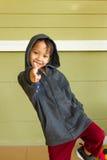 Little boy rapper Stock Image