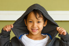 Little boy rapper Royalty Free Stock Images