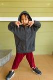 Little boy rapper Stock Images