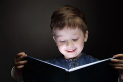 Little boy read book Royalty Free Stock Photo