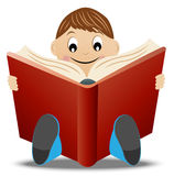 Little boy read book Stock Photo