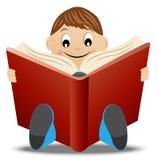 Little boy read book Stock Photo