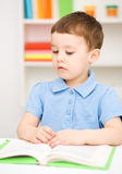 Little boy is reading a book Royalty Free Stock Image