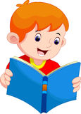 Little boy reading a book Royalty Free Stock Photography