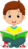 Little boy reading a book Stock Image