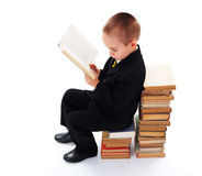 Little Boy Reading Royalty Free Stock Images