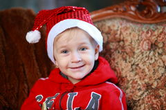 Little boy in a red cap Stock Image