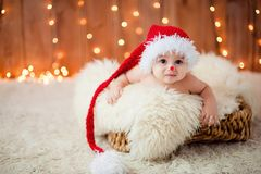 Little boy in a red hat Royalty Free Stock Photo