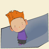 Little boy with red hair Royalty Free Stock Images