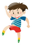 Little boy in red shorts dancing. Illustration Stock Image