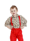 Little boy in red shorts Royalty Free Stock Images