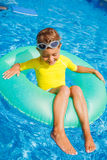 Little boy relax in pool Royalty Free Stock Photo