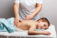 Children massage Royalty Free Stock Image