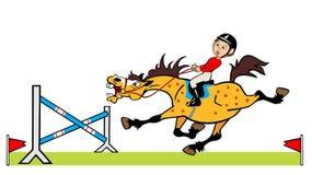 Little boy rider Stock Photo