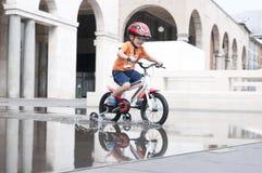 Little boy riding a bike Royalty Free Stock Photography