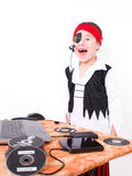 Little boy while robbery copying Royalty Free Stock Photo