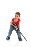 Little boy rock star Stock Image