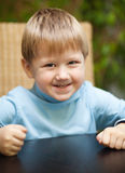 Little boy with roguish smile Stock Photography