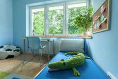 Little boy room from the inside Royalty Free Stock Images