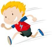Little boy running alone Royalty Free Stock Photo