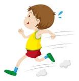 Little boy running fast. Illustration Vector Illustration