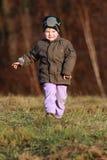 Little boy running Stock Photography