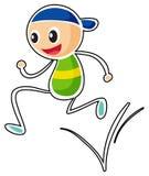 A little boy running Royalty Free Stock Photo